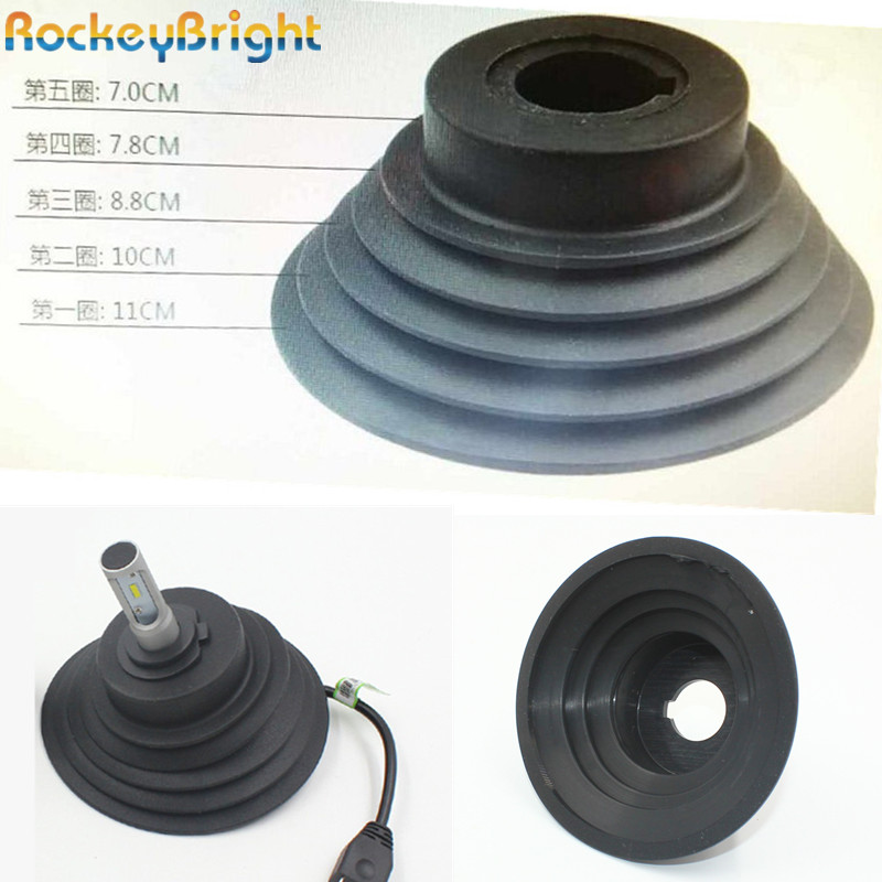 Rockeybright 1pc H4 H7 H8 H11 9005 9006 HID LED Headlight Car Dust Cover Rubber Waterproof Dustproof Sealing Headlamp Cover Cap universal oil filter wrench