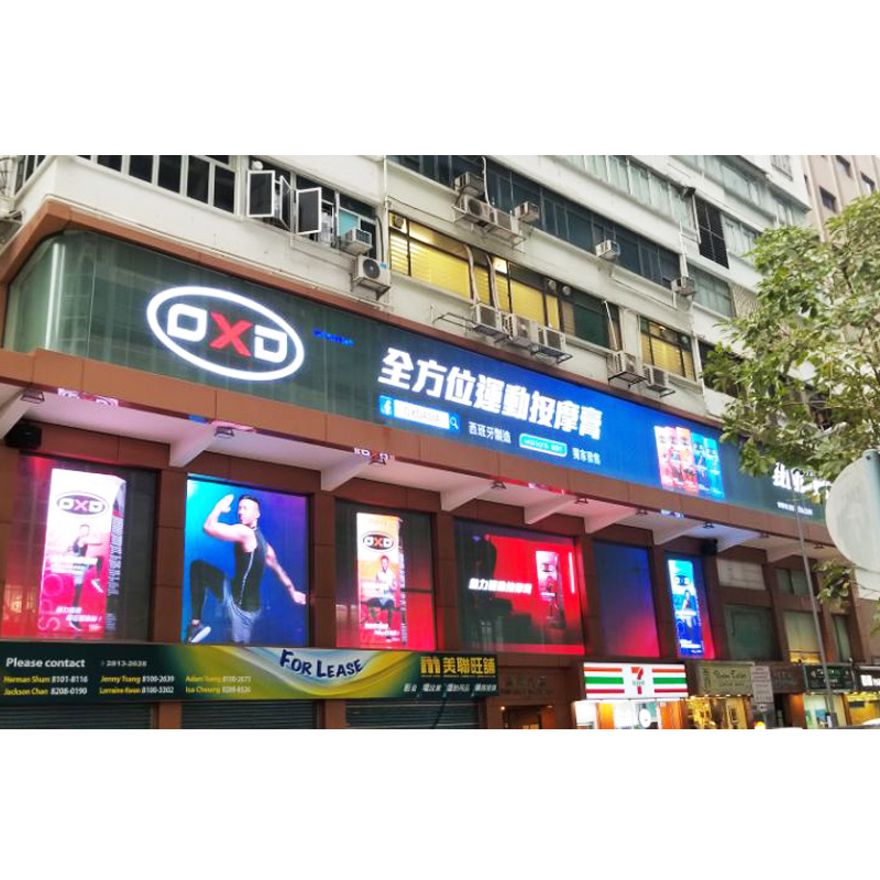 Indoor Led Video Curtain Window Led Screen Smd Full Color Glass Transparent Led Display For Shopping Mall