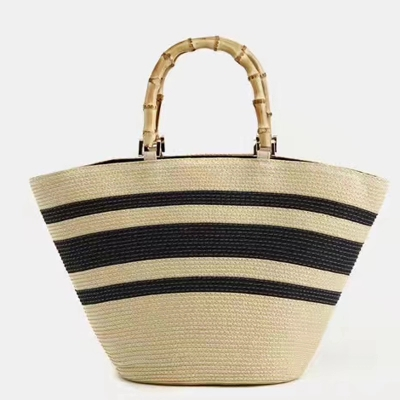 New 2018 Summer bamboo Beach Bag Hand Woven Straw Bags Fashion Women Casual Tote Large Capacity Shopping Bags Women Handbags 2016 fashion design straw knitting women shoulder bags beach bags women scarf tote handbags for ladies summer tote bags t400
