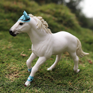 Image 4 - Oenux Original Genuine Farm Animals Horse Model Action Figures Wild Steed Figurines PVC High Quality Education Toy For Kids Gift