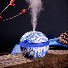 Reed Diffuser Sets Humidifier Blue And White Porcelain Home Aroma LED Humidifier Air Diffuser Purifier Office ABS Plastic Nov22(China)