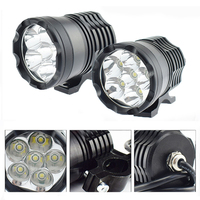 Motorcycle Headlight LED Moto Work lights 12V 60W Motorbike auxiliary lamp Spotlight Headlamp Waterproof Moto Spot Lights DRL