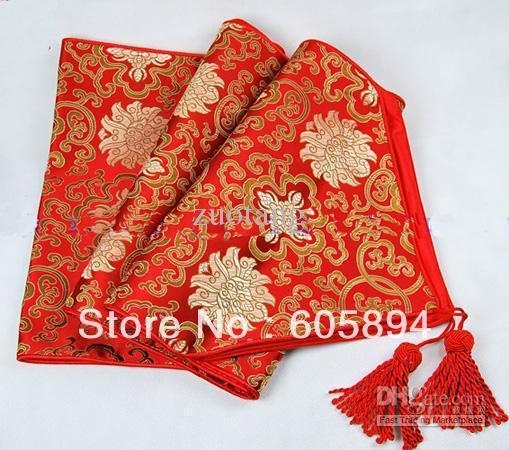 120 Inch Extra Long Party Table Runners Red Damask Tablecloth Length Coffee  Table Runner Luxury Bed