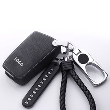 Genuine Leather Car Key Rings For Toyota RAV4 PRADO Highlander COROLLA Camry Prius Reiz  yaris CROWN Fit Car Protective shell special leather car seat covers for toyota rav4 prado highlander corolla camry prius reiz crown yaris car accessories styling