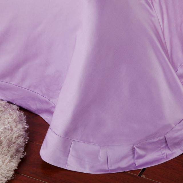 luxury light purple bedding set queen king size lilac duvet cover double bed in a bag sheet linen quilt doona bedsheet in bedding sets from home u0026 garden