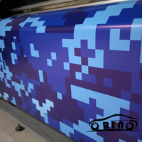 Adhesive Blue Pixel Digital Vinyl Wraps Camouflage Film Vinyl Wrap Sticker Car Styling Vehicle Motorcycle Truck Decal Wrapping