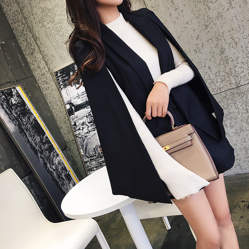 Set female 2018 spring and summer new style Slim fashion temperament cloak suit jacket + shorts elegant casual two-piece