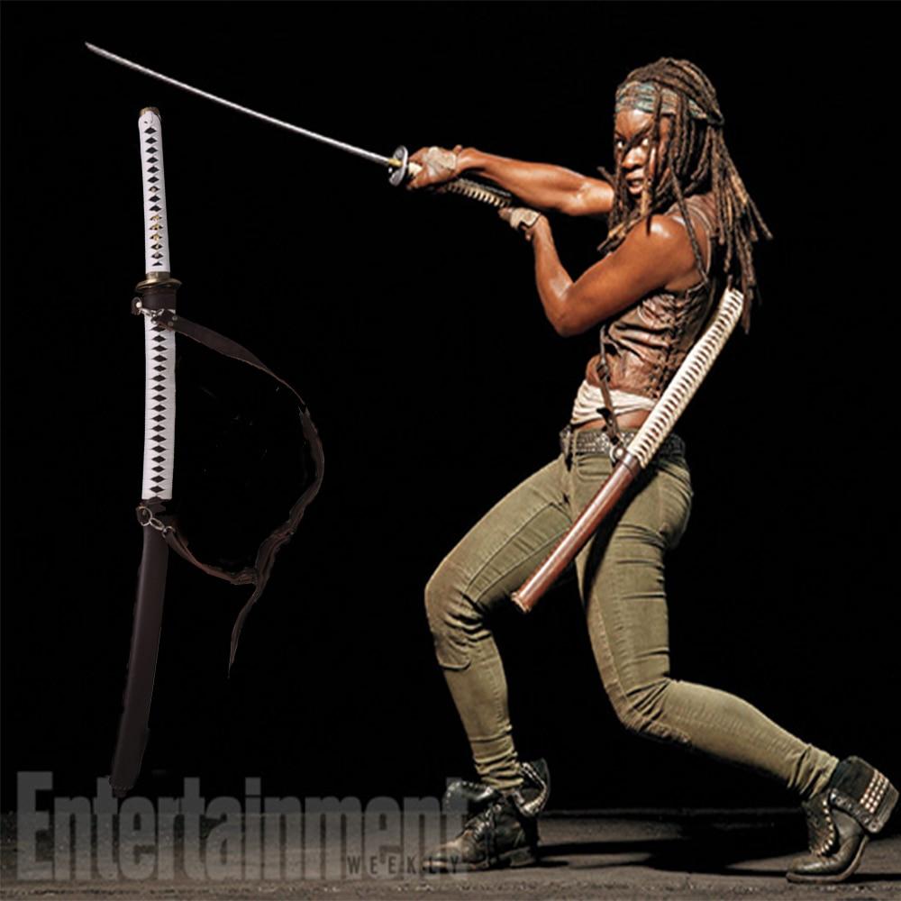 The Walking Dead Japanese Ručně vyráběná kolekce mečů katana Samurai Skládací ocel Damascus Full Tong Sharp Hard Protagonist Prop