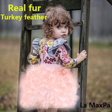 Kinder toddler child baby kid clothes robocar costume roupas fur coat vestido girl outerwear real fur