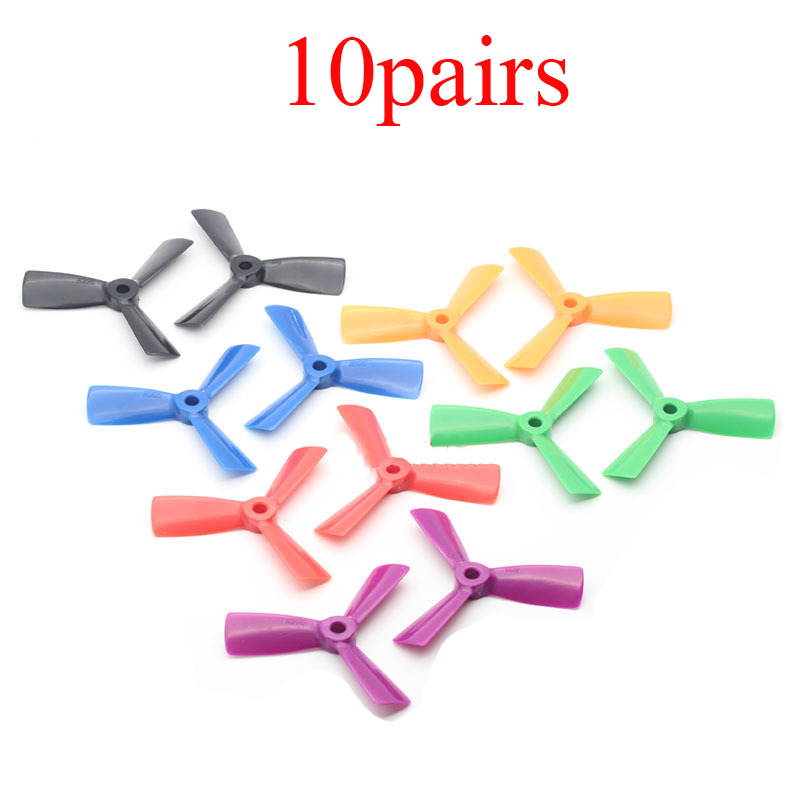 10Pairs <font><b>3045</b></font> <font><b>Propeller</b></font> 3 Blade Prop CW CCW Paddle 5mm Hole Dia <font><b>Propellers</b></font> for 1410/1306/1806 Motor RC 150/180/200 FPV Frame image