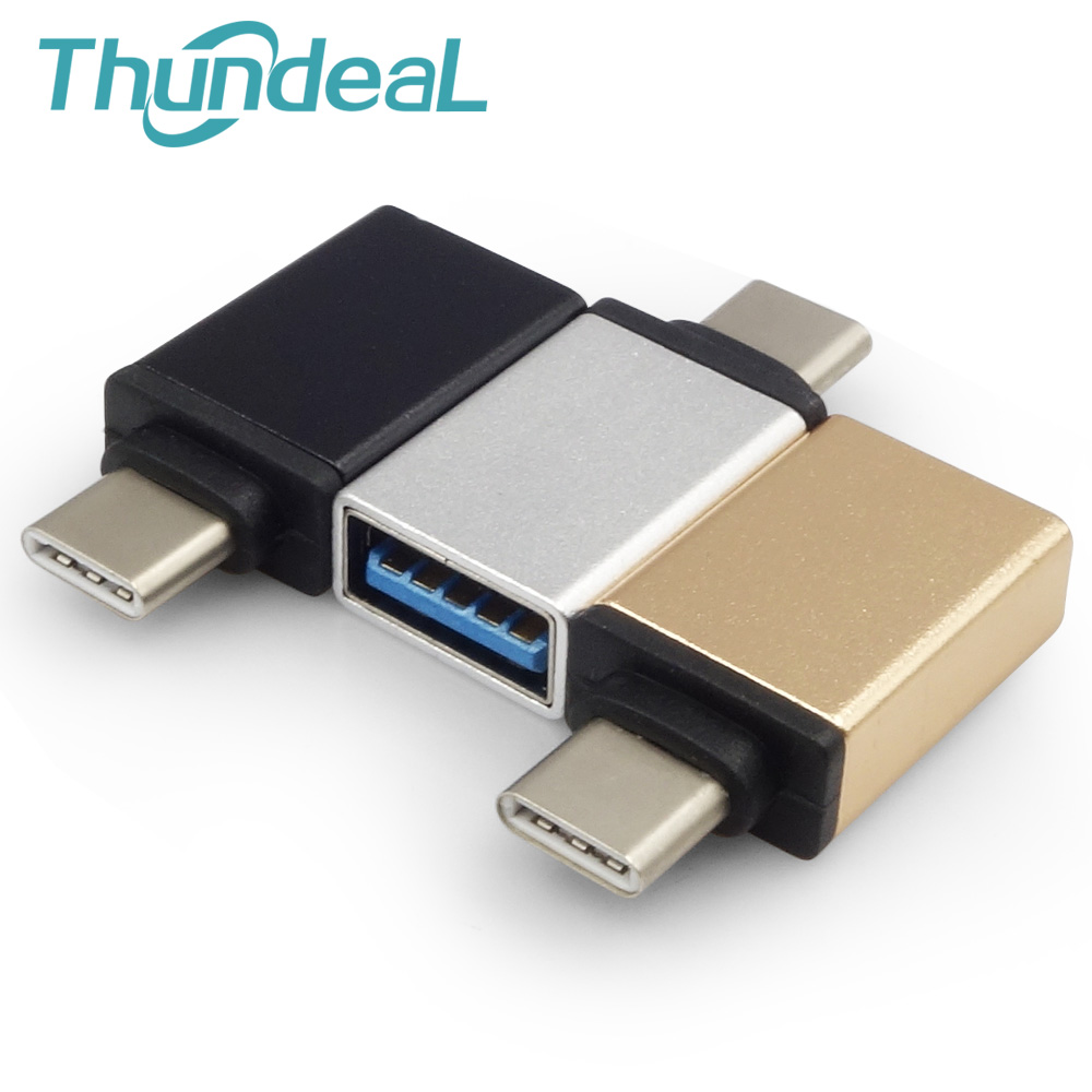 ThundeaL USB Type C to USB 3.0 OTG Adapter for MacBook Pro Samsung Galaxy S8 Nexus 6P 5X Google LG G5 HTC 10 Type-C OTG Cable