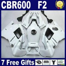 ABS Motorcycle fairings kits for Honda CBR600 F2 1991 1992 1993 1994 CBR 600 F2 CBR600 F 91 92 93 94 full white fairing set+ tan