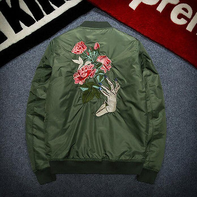 Embroidered Aviator Men's Bomber Jacket 18 Designs