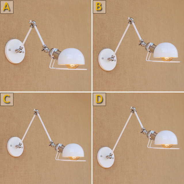 DIY Loft Style Edison Wall Sconce Bedside Lamp Long Arm Industrial Vintage Wall Light Fixtures Home Lighting Lampara Pared