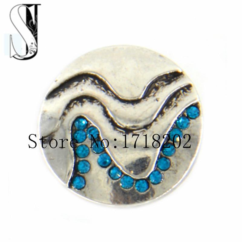 ccdda67446dc Snap charm cristal las ondas playa océano náutico azul cristal jengibre  intercambiable joyería SB1362. )