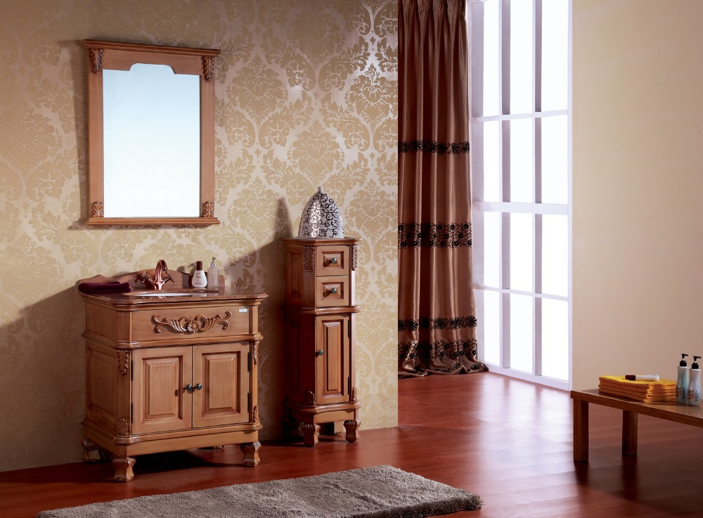 made in China solid wood bathroom vanity cabinet