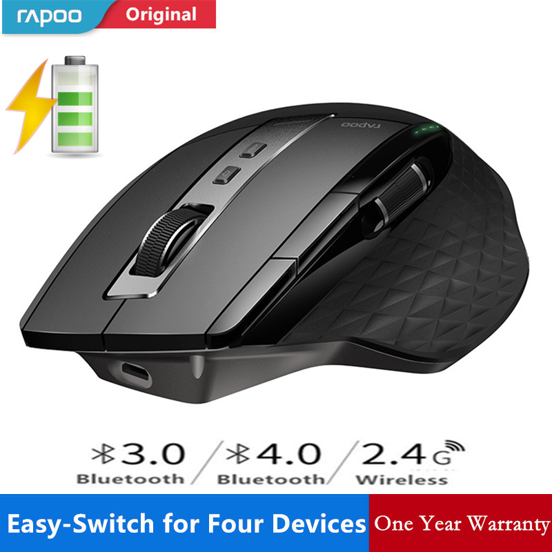 New Rapoo MT750S Rechargeable Multi-mode Wireless Mouse Switch Between Bluetooth 3.0/4.0 And 2.4G For Four Devices Connection