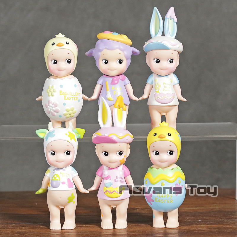 Sonny Angel 2018 Easter Series Mini PVC Figures Collectible Model Toys 6-pack image