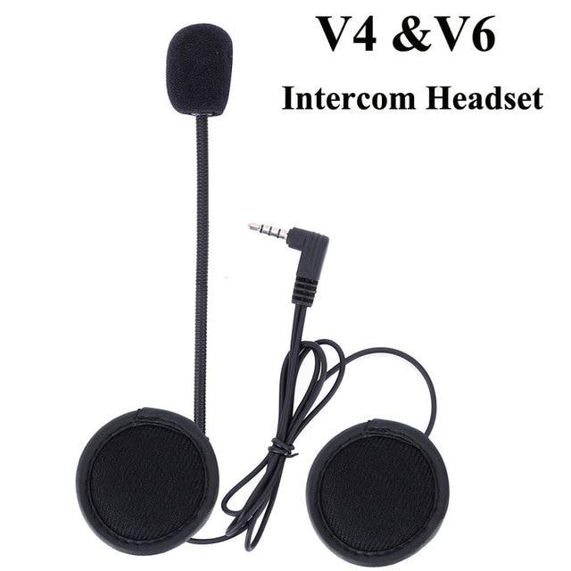 Intercom Headphone Suit for V6 V4 Intercom Motorcycle Microphone Bluetooth Helmet Headset Interphone Accessory Stereo Music