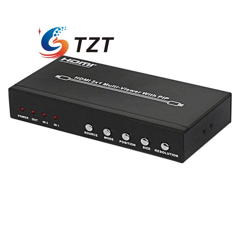 HDS-821P 2x1 HDMI Splitter Video Audio Division Multi-Viewer w/PIP Two Input One output HDMI Port for PC DVD Player to HDTV hdmi 2x1 multi viewer with pip the two hdmi switcher seamlessly not black screen with rs232 ir