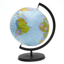 Inflatable World Globe Earth With Holder 30cm Teaching Geography Map Beach Ball Kids Educational Toy Miniatures Office Gadgets