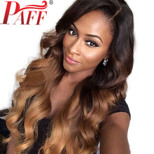Ombre Dark Blonde U Part Human Hair Wigs 130% Density Brazilian Remy wig Two-Tone Color  Side part with Baby PAFF