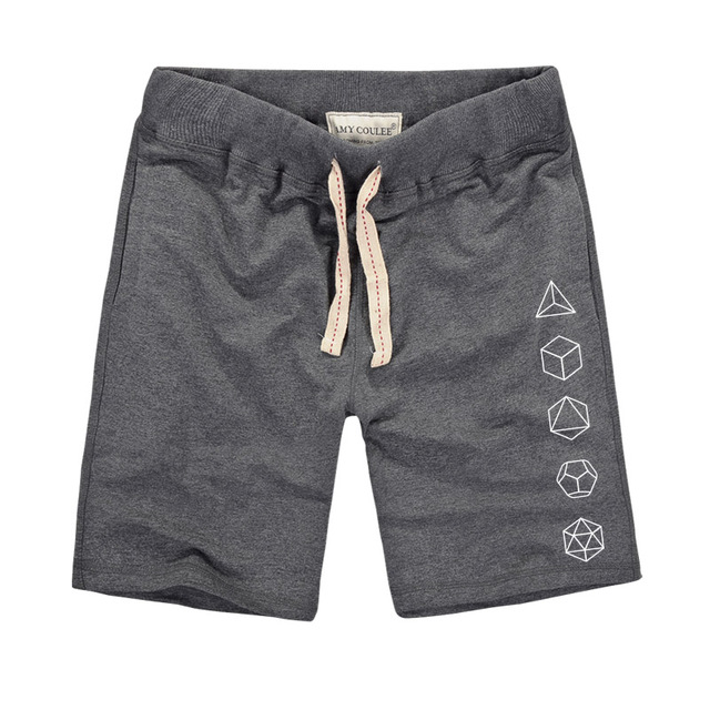 Platonic Sacred Geometry Evolution Printed Creative Men Shorts 1