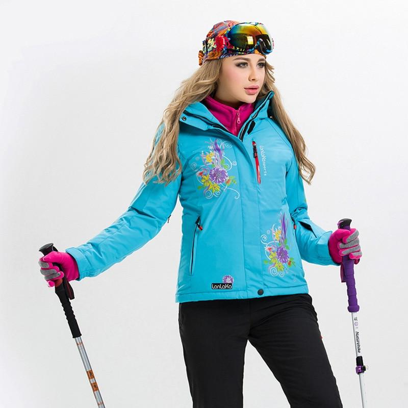 Prix pour 2016 nouvelle impression épaississement imperméable et respirante froid Dame vêtements de ski