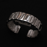 18mm 20mm 22mm 24mm 26mm 28mm Watchband hot Polished Stainless Steel Metal Watch Bands Strap bracelets Deployment Clasp Buckles