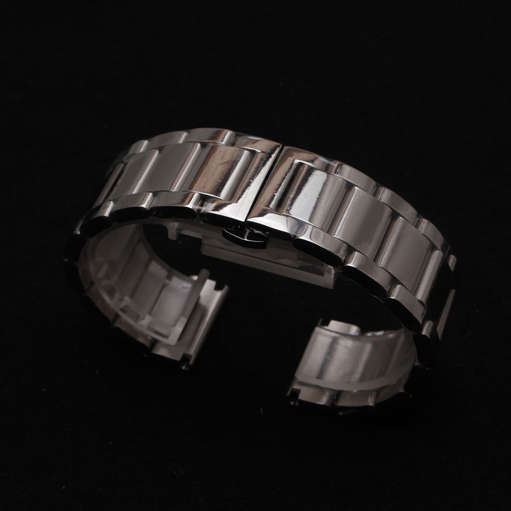 18mm 20mm 22mm 24mm 26mm 28mm 30mm New 316L Polished Stainless Steel Metal Watch Bands Strap bracelets Deployment Clasp Buckle 18mm wholesale new deployment watch band strap buckle clasp silver polished brushed high quality stainless steel without logo
