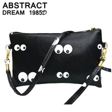 woman shoulder bag 2019 new black PU leather fashion casual small Eye Envelopes messenger bag Mini leather clutch crossbody bags(China)
