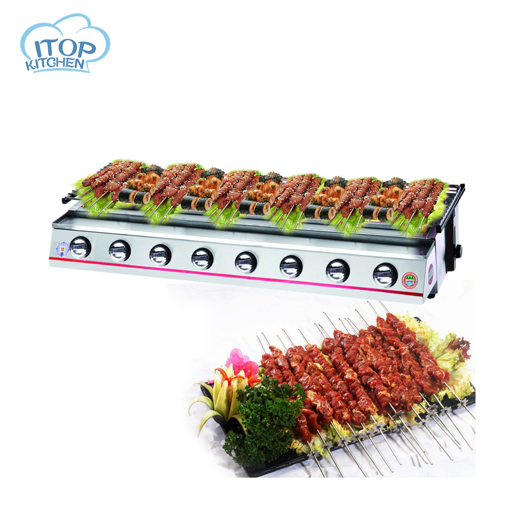 Commercial 8 Burners BBQ Grill Suitable for 10-20 People Party Barbecue Controllable Temperature