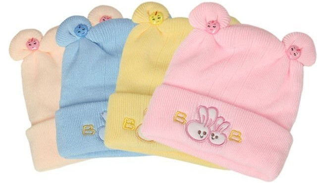 Baby tire cap autumn and winter hat yarn baby spring and autumn cashmere hat newborn knitted hat pullover thermal