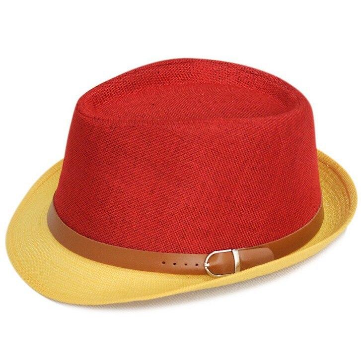 Kagenmo летняя крутая Солнцезащитная шляпа вечерние Кепка джентльмена уличный танец шляпа 11 цветов 1 шт - Цвет: 1