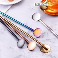 Straw Spoons with Filter Stainless Steel Stirring Coffee Spoons Teaspoon Yerba Mate Small Mini Tea Spoon Tableware Golden Black 50cm high night stands black and golden bedside table stainless steel with golden varnish
