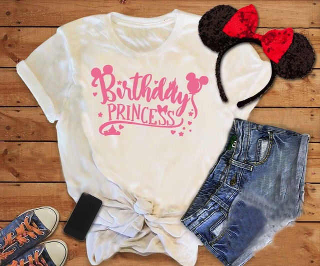 3dc1f2ebce Birthday Princess t-shirt funny women fashion astel aesthetic graphic  pretty gift for her tumblr
