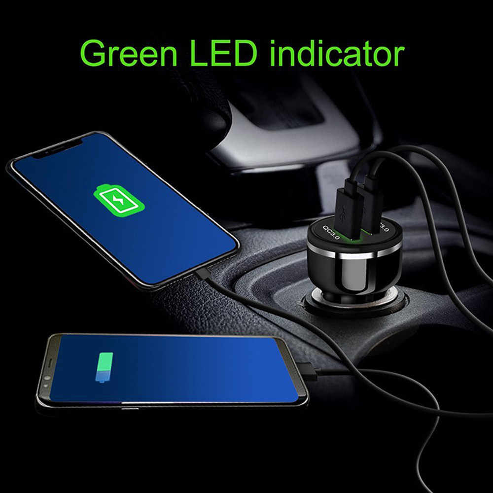 Dual USB Car Charger Adapter Metal Car-Charger Mobile Phone Car USB Charger Auto Charge 2 Port 24W for Samsung iPhone #6