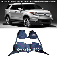 For Ford Explorer 5 Seats 2011 2015 Interior Durable Auto Accessories Waterproof Custom Car Floor Mats