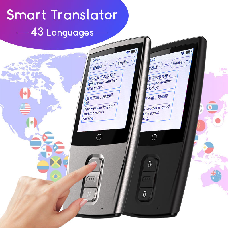 Portable Smart Translator Real Time 43 Languages 2-way Instant Voice  Translator WiFi 3G 4G Connection Travel Business Tradutor