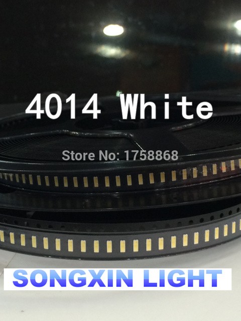 3000pcs/lot 0.2W SMD 4014 LED Lamp Bead13-26lm White/Warm white SMD LED 2800K/6000K/9000K Beads LED Chip 3.0-3.4V Free shipping