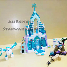 Friends Series 10664 Elsa Anna Figures Dress Up Building Block Toys Compatible  Girl Princess Castle Toy