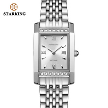 Starking Fashion Casual Women Dress Watch Top Brand Luxury 2018 Ladies With Rhinestones Relogio Feminino Retangular WATCH