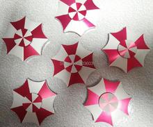 50ชิ้น/ล็อตสีแดงรูปร่างร่มเย็นวงกลมมือปั่นโลหะผสมอยู่ไม่สุขปินเนอร์ปลายนิ้วGyro EDCออทิสติกสมาธิสั้นความเครียดบรรเทาของเล่น