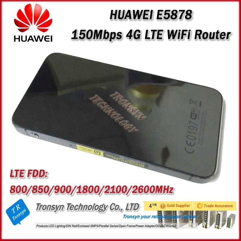 Nouvelle D'origine Unlock LTE FDD 150 Mbps HUAWEI Portable 4G sans fil Routeur E5878 Et 4G LTE Mobile Hotspot