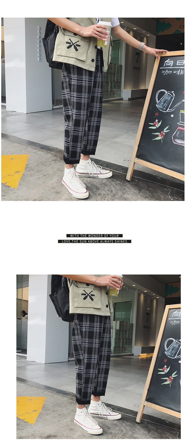 HTB1ri1qbsrrK1RjSspaq6AREXXaC LAPPSTER Streetwear Yellow Plaid Pants Men Joggers 2019 Man Casual Straight Harem Pants Men Korean Hip Hop Track Pants Plus Size