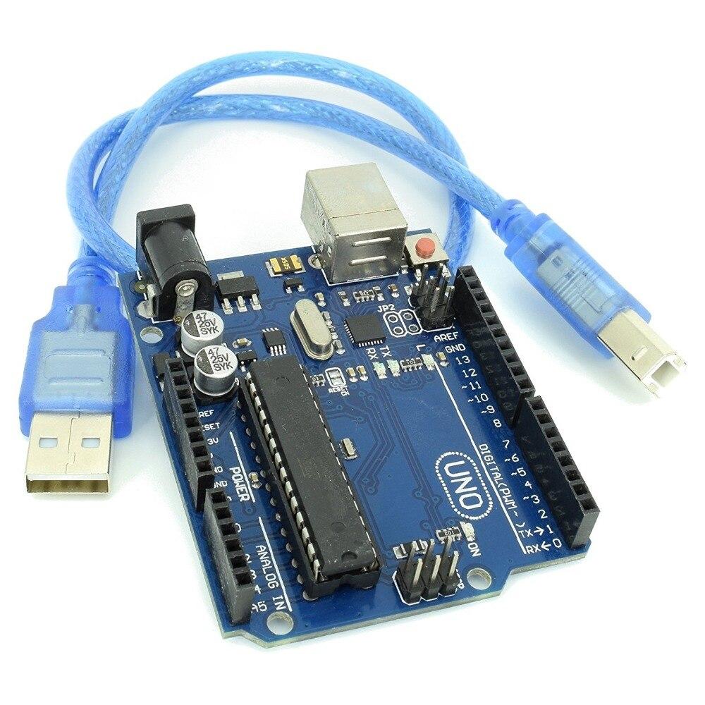 ShenzhenMaker UNO R3 Micro Controllore Arduino Compatibile Bordo di Sviluppo Basato sul ATMega328P e ATMega16U2ShenzhenMaker UNO R3 Micro Controllore Arduino Compatibile Bordo di Sviluppo Basato sul ATMega328P e ATMega16U2