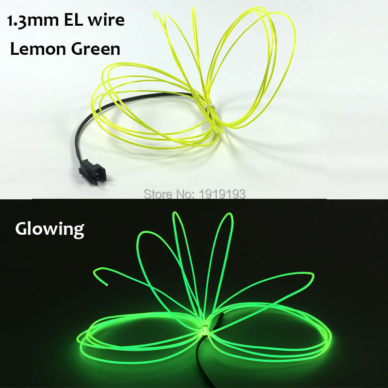 1PCS 1.3mm 5Meters Flexible EL Wire Electroluminescent Rope Neon LED Light Glow For festival Decoration With 5V-USB Controller hot sale 10 colors 3m clamping edge two splices led flexible el wire neon glow light with 12v controller for most cars styling