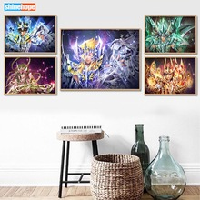Custom Saint Seiya Canvas Poster 27X40cm30X45cm Home Decor Canvas Printing Silk Fabric Print Anime Wall Poster No Frame