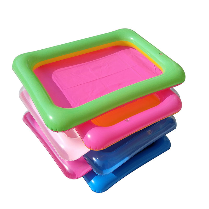 1pcs60X45cm Indoor Magic Play Sand Children Toys Mars Space Inflatable Sand Tray Accessories Plastic Mobile Table Kid Party Play