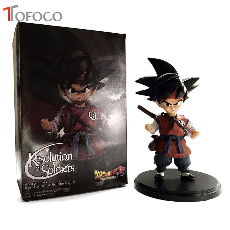 TOFOCO New 16cm Original Goku Child Black Goku Banpresto Figure Dragon Ball Action Figure Model Toys